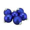 "6ct Shiny and Matte Cobalt Blue Glass Ball Christmas Ornaments 2.5"" (65mm) - 31393876"