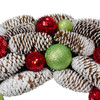 "21"" Candy Crush Frosted Pine Cone and Ball Ornament Artificial Christmas Wreath - 17103731"