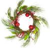 "21"" Christmas Brites Red & Green Jingle Bell Glitter Artificial Wreath - Unlit - 16190238"