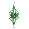 """Sugared Fruit Green Bead and Glitter Filigree Christmas Ornament 8.5"""" - 11239057"""