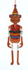 """8.25"""" Glittered Orange Monkey with Dangle Arms and Legs Christmas Ornament - 31086064"""