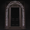 8' Lighted Entryway Front Door Archway Christmas Yard Art Decoration - Clear Lights - 31750637