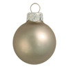 "40ct Matte Pewter Gray Glass Ball Christmas Ornaments 1.25"" (30mm) - 30939273"