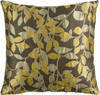 "22"" Topaz Yellow and Gray Brown Decorative Throw Pillow - 28569715"