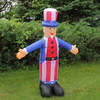 6' Inflatable Lighted Standing Uncle Sam Yard Art Decoration - 31516065
