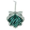 "4.5"" Glittered Teal Zebra Print Snowflake Prism Christmas Ornament - 21292974"