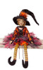 """31.5""""  Whimsical  Orange and Black Posable Halloween Witch Autumn Decoration - 31452505"""