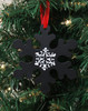 """5.25"""" Black Chalkboard Finished Traditional Style Snowflake Christmas Ornament - 31088906"""