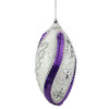 """4ct White, Purple Sequined and Silver Beaded Shatterproof Christmas Finial Ornaments 4.5"""" - 32208031"""