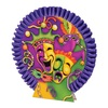 """Club Pack of 12 Purple, Green, Orange and Gold Mardi Gras Table Centerpieces 10"""" - 31560478"""