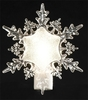 "6"" Icy Crystal White Beaded Snowflake Christmas Night Light - 30657488"