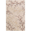 6' x 9' Fair Enoki Oyster Gray and Sepia Brown Wool Area Throw Rug - 28456739