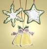 "Set of 12 Snowflake Star Bell 3.5"" Cookie Ornaments to Personalize #26726 - 6372225"