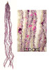 """24"""" Shimmering Purple Ice Garland Cluster Christmas Ornament - 5670371"""