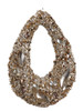 "7.5"" Golden Encrusted Sequins and Jewels Hoop Christmas Ornament - 16178789"