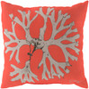"""18"""" Coral Orange and Beige Bosque Wing Decorative Throw Pillow - 30990839"""