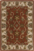 2' x 3' Rio Bravo Maroon, Red and Brown Hand Tufted Wool Area Throw Rug - 28452631