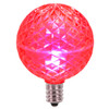 Club Pack of 25 LED G50 Pink Replacement Christmas Light Bulbs - E12 Base - 30861540