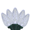 Set of 15 LED Light Show C9 Crystal White Christmas Lights - Green Wire - 31088628