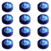 Club Pack of 12 Battery Operated LED Blue Waterproof Tea Lights - 30851564