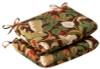 Pack of 2 Outdoor Patio Furniture Chair Seat Cushions - Floral Cafe - 13367375