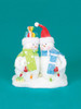 "9.5"" Cupcake Heaven Fluffy Snowmen with Light Strand Christmas Table Figure - 16459263"