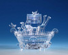 """Pack of 2 Icy Crystal Illuminated Religious Noah's Ark Candy Jar 7"""" - 31002394"""