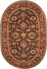 6' x 9' Anethancian Driftwood Brown and Red Clay Wool Oval Area Throw Rug - 28457592