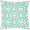 "18"" Neon Green and Gray Geometric Gems Decorative Throw Pillow - Down Filler - 30891410"