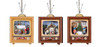 """Club Pack of 12 Icy Crystal Decorative Christmas Scene TV Ornaments 4"""" - 31002372"""