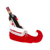 Mark Roberts Collectible Red and Silver Queens Shoe Christmas Wine Bottle Holder #51-32038-SLV - 31452139