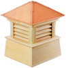 """27"""" Handcrafted """"Bristol"""" Copper Roof Wood Cupola - 9449889"""