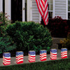 Pack of 12 Lighted Wax Tea Candles American Flag Luminaria Kit - 30851574