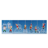 """Club Pack of 14 Whimsical Decorative Icy Crystal Christmas Elves Ornaments 3"""" - 31002351"""