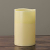 """10"""" Ivory Battery Operated Flameless LED Lighted 3-Wick Flickering Wax Christmas Pillar Candle - 31755177"""