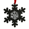 """5.25"""" Traditional Style Chalkboard Finished Black Snowflake Christmas Ornament - 31088856"""