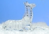 """6"""" Icy Crystal Sitting Striped African Zebra Figure - 10583822"""