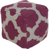 """18"""" Violet Purple and Gray Spaded Spheres Wool Square Pouf Ottoman - 30894589"""