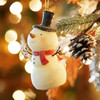 """5"""" Sweet Memories Lighted Musical Frosted Snowman Christmas Ornament - 30657370"""