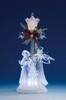"""Pack of 2 Icy Crystal Illuminated Christmas Street Lamp with Choir Figurines 11"""" - 31002430"""