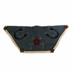 """48"""" Wild West Denim Christmas Tree Skirt with Embroidered Stars and Horseshoes - 30860997"""