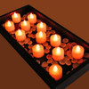 Club Pack of 12 LED Lighted Battery Operated Orange Tea Light Candles - 30851591