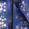 "Silver Star Printed Navy Blue Satin Craft Ribbon 1"" x 54 Yards - 31385560"