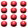 Club Pack of 12 Battery Operated LED Red Waterproof Tea Lights - 30851565