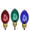 Set of 3 Lighted Multi-Color Mighty Light C7 Shape Christmas Pathway Markers - 7559850