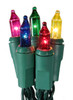 Set of 10 Battery Operated Multi-Color Mini Christmas Lights - Green Wire - 23120739