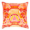 """18"""" Dream Fortress Carrot Orange and Pepper Red Decorative Square Throw Pillow - Down Filler - 31395637"""