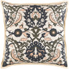 "18"" Light Peach, Black, Olive Green and Beige Woven Decorative Throw Pillow-Down Filler - 32217577"