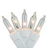 Set of 50 Shimmering Clear Mini Christmas Lights - White Wire - 25250657