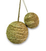 Pack of 8 Country Rustic Polyform Wrapped Twine Christmas Ball Ornaments - 18363083